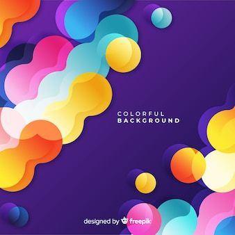 Colorful overloped shapes background