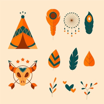 보헤미안 스타일 스티커의 다채로운 팩