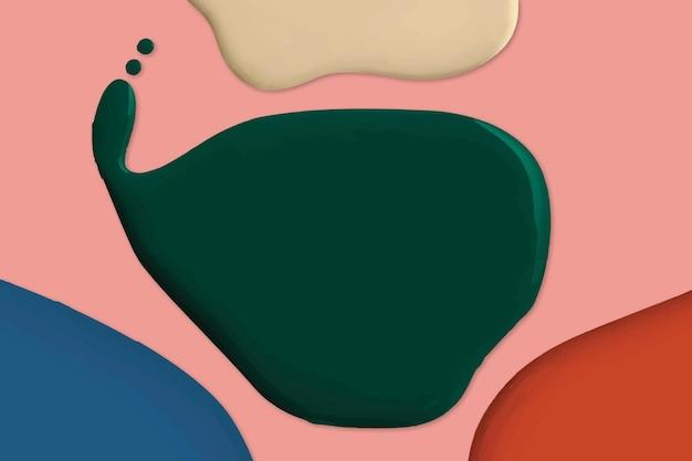 현대적인 스타일의 다채로운 페인트 추상적인 배경 벡터 크리에이 티브 아트
