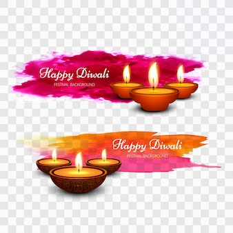 Colorful paint diwali design