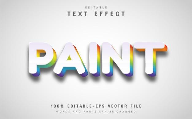 Colorful paint text effect editable