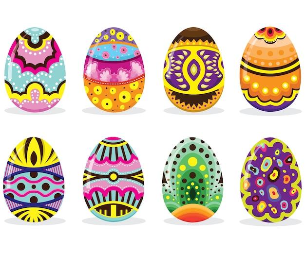 Красочные расписные пасхальные яйца