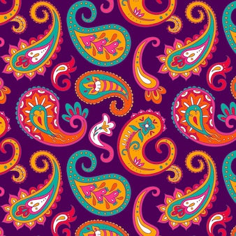 Colorful paisley pattern design