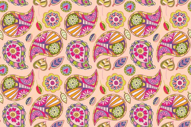 Colorful paisley pattern