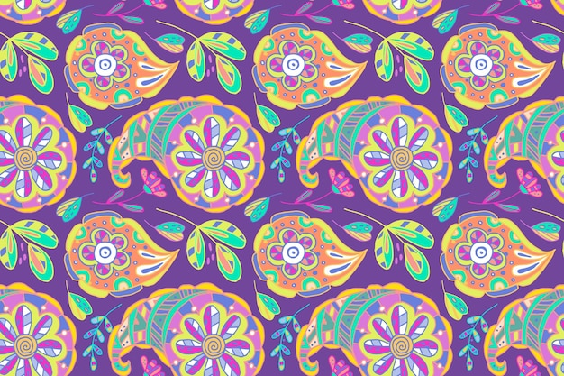 Colorful paisley pattern