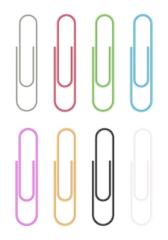 Colorful paper clip vector
