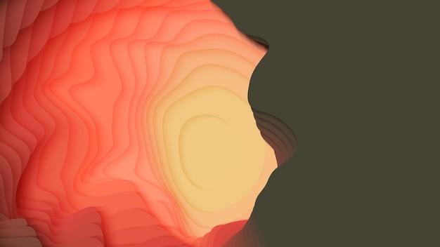 カラフルな紙の層