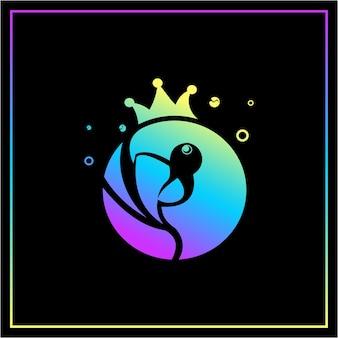 カラフルなオウムの鳥のロゴデザインテンプレート