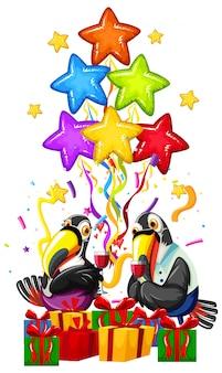 Colorful parrot celebration concept