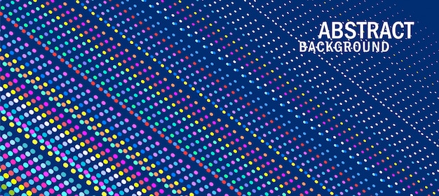 Colorful particle line background