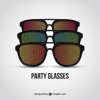 Vetri del partito colorful