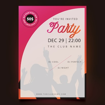 Colorful party poster design