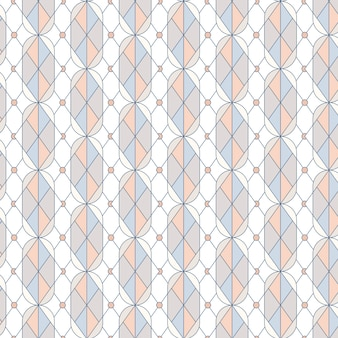 Colorful pastel geometric seamless pattern vector