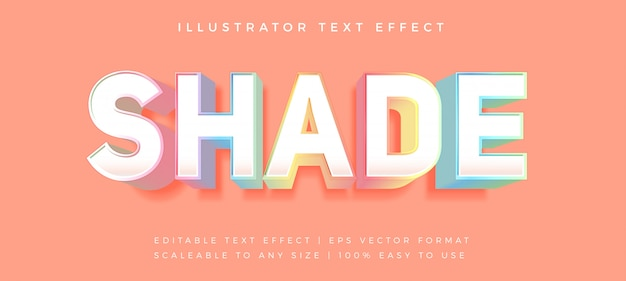 Colorful pastel text style font effect