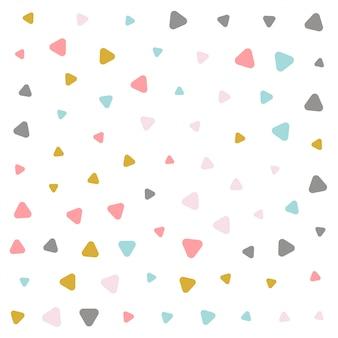 Colorful pastel triangle pattern design