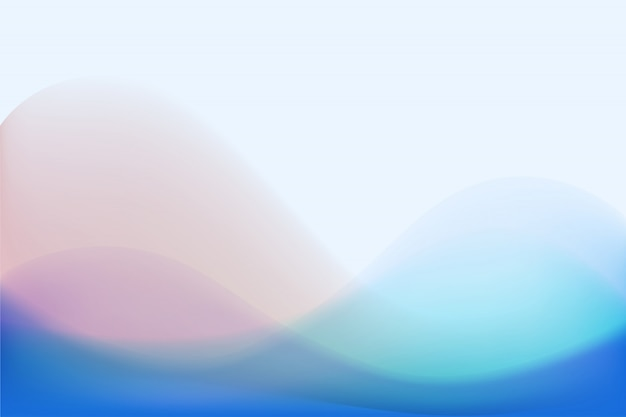 Colorful pastel wave abstract background