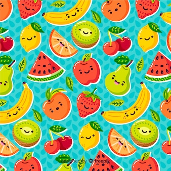 Colorful pattern background of fruit