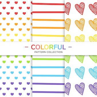 Colorful pattern collection.