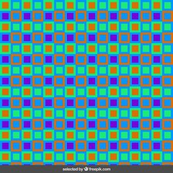 사각형으로 만든 화려한 패턴