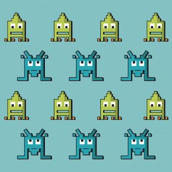 空間ゲームのエイリアンのカラフルなパターン