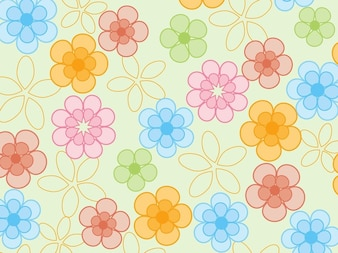 Colorful pattern of flowers