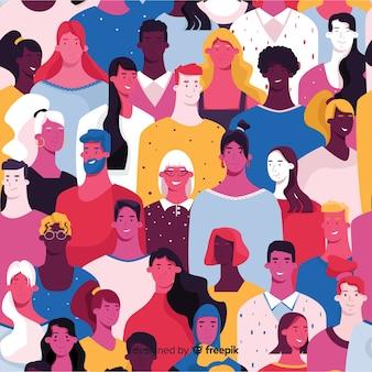 Красочный узор молодых людей