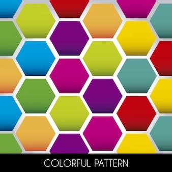 黒ベースのベクトル図にカラフルなパターン