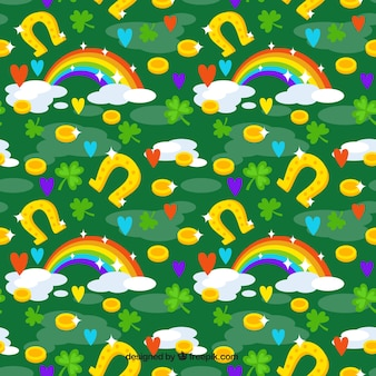Colorful pattern of saint patrick elements