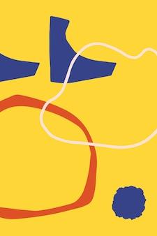 Красочный узор с абстрактными формами