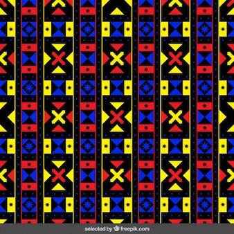 화살표와 함께 화려한 패턴