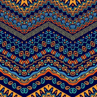 Colorful pattern with ethnic elements