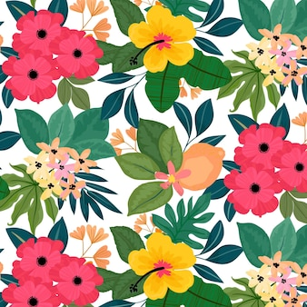 Colorful pattern with flowers