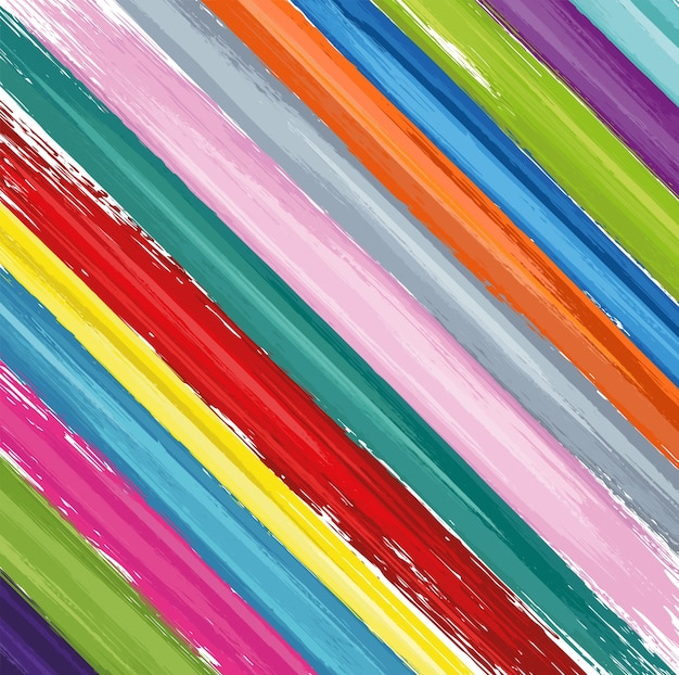 Colorful pattern with paint brushes strokes on white background. abstract texture