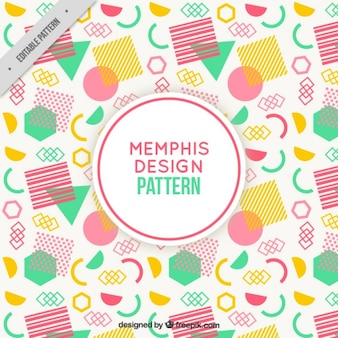 Colorful pattern with polygonal shapes