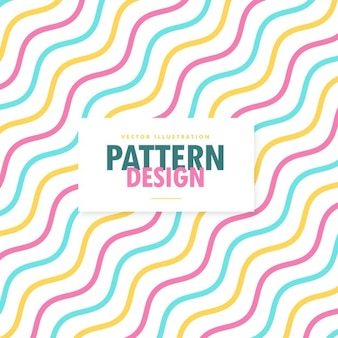 Colorful pattern with wavy lines