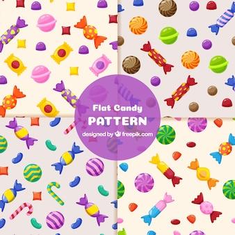 Collezione di modelli colordul con deliziose caramelle