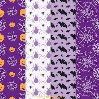 ハロウィーンのためのカラフルなパターン