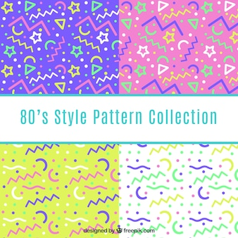 Colorful patterns of geometric lines