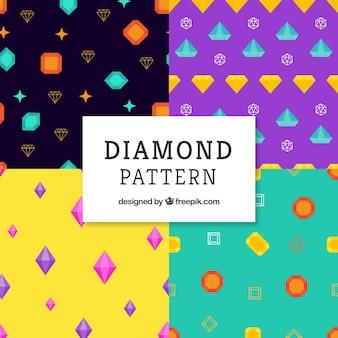 Красочные узоры алмазов