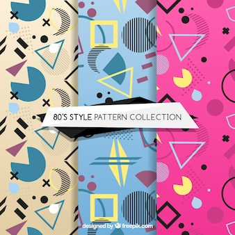 Colorful patterns with geometric figures