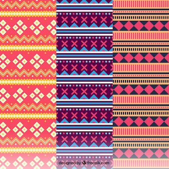 Colorful patterns with geometric shapes