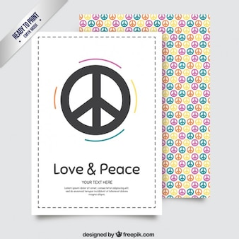 Colorful peace stationery