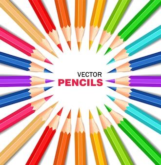 다채로운 연필 모음