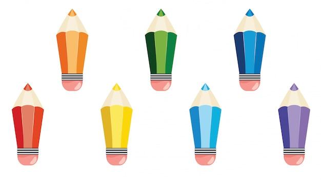 다채로운 연필 디자인