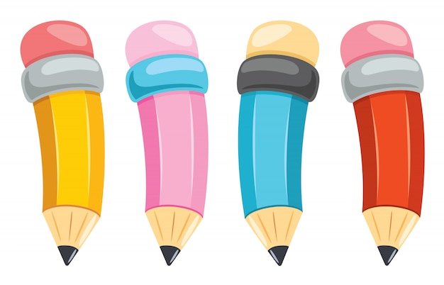 Colorful pencils for kids education