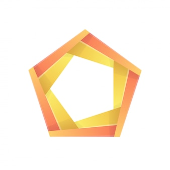 Colorful pentagon abstract icon