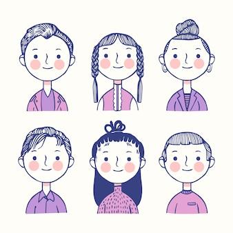 Avatar di persone colorate
