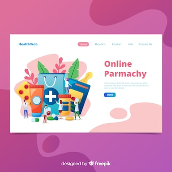 Colorful pharmacy landing page