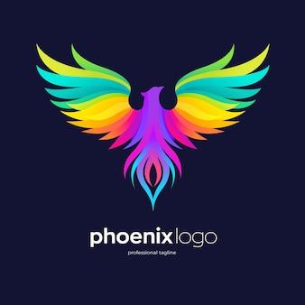 Colorful phoenix logo design