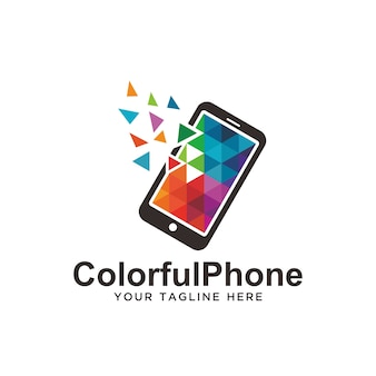 Colorful phone logo.